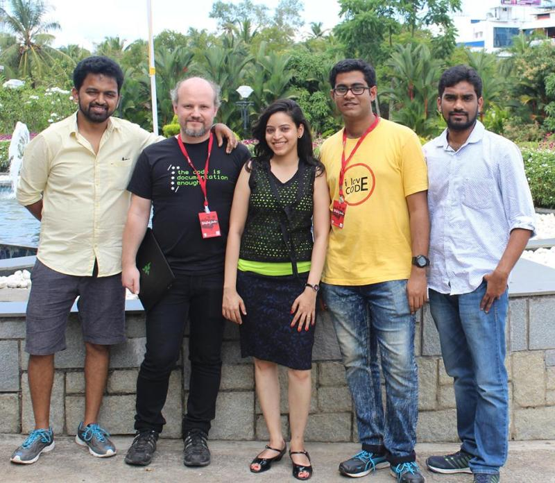 Nelkinda Staff (from left to right: Shweta Sadawarte, Christian Hujer, Siddhesh Nikude) at the Le Méridien in Kochi, Kerala, India